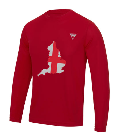 Men's England Ultra Cool Wicking Long Sleeve T-Shirt