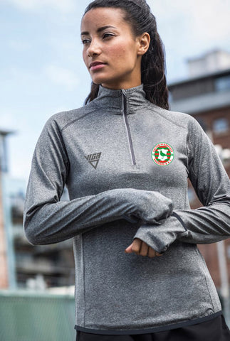 Sutton-in-Ashfield Harriers & A.C. Ladies Long Sleeve Zip Neck Performance Top