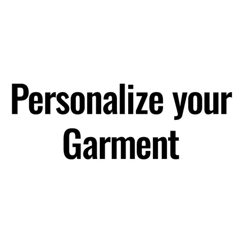 Personalise Your Garment