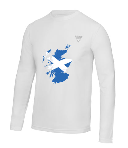 Men's Scotland Ultra Cool Wicking Long Sleeve T-Shirt
