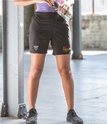 Dunoon Hill Runners Ladies Microfibre Shorts (Black)