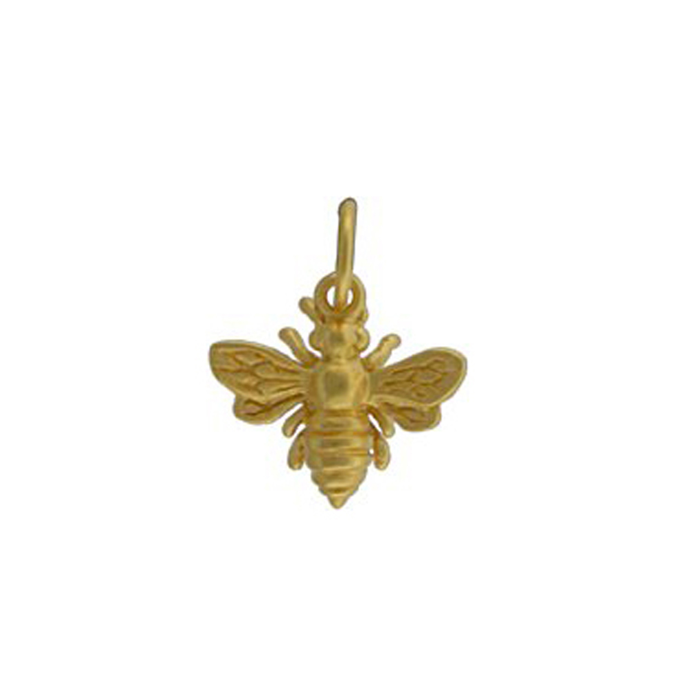 silver necklace pendant bee bumble