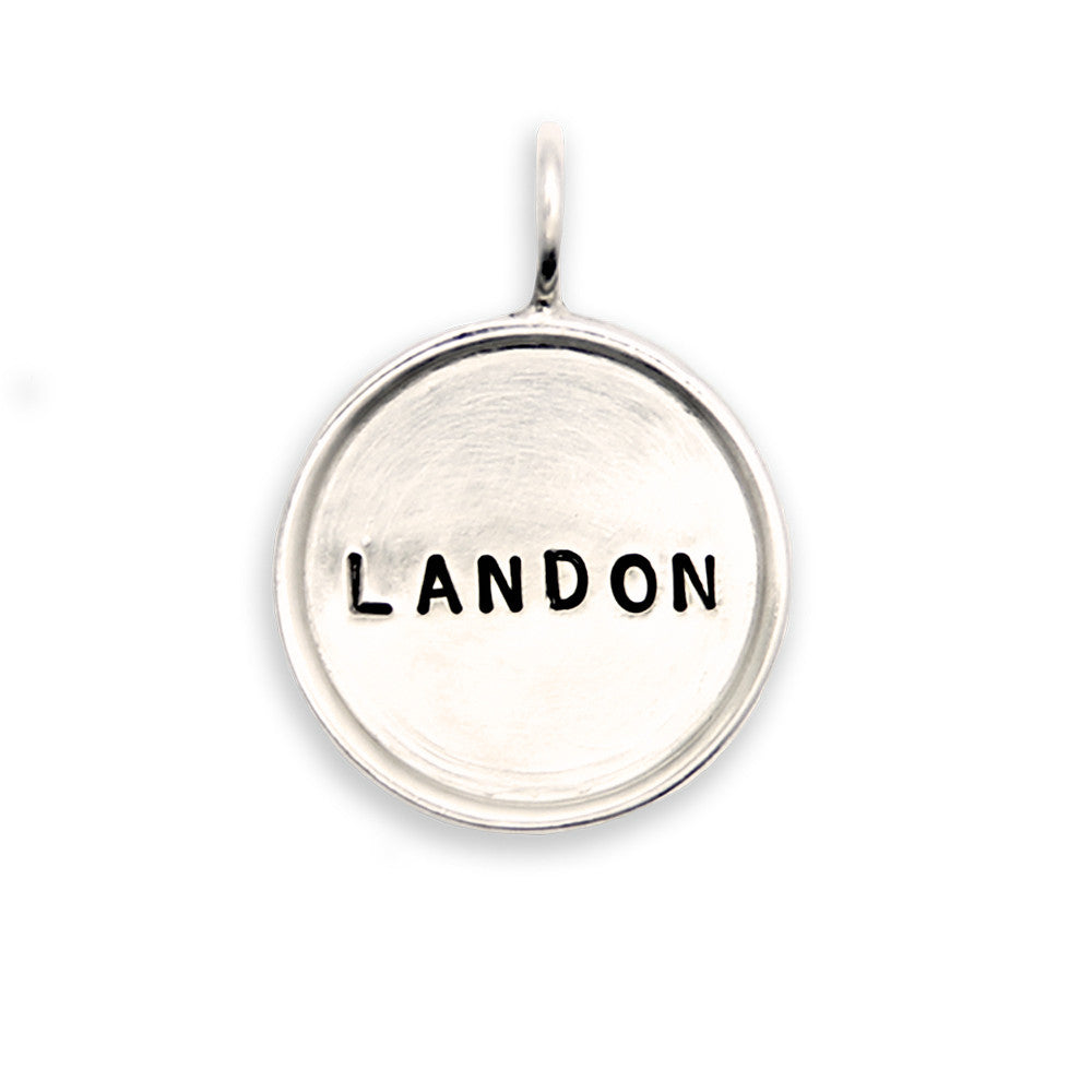 Hand Stamped Sterling Silver Name Charm, Personalized Jewelry