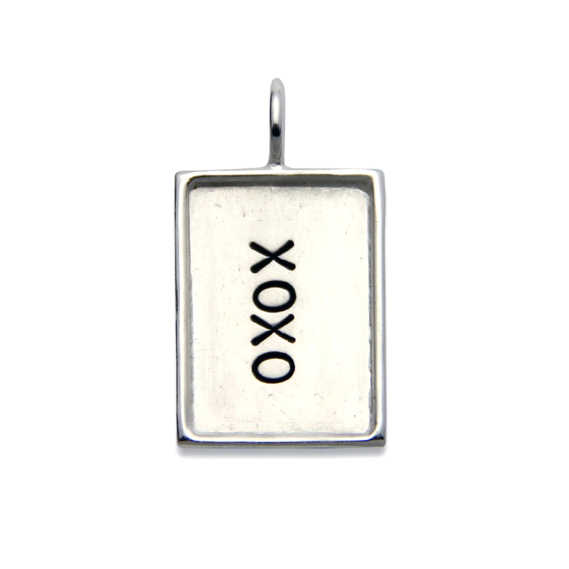 Hand Stamped Sterling Silver Dog Tag With Rim