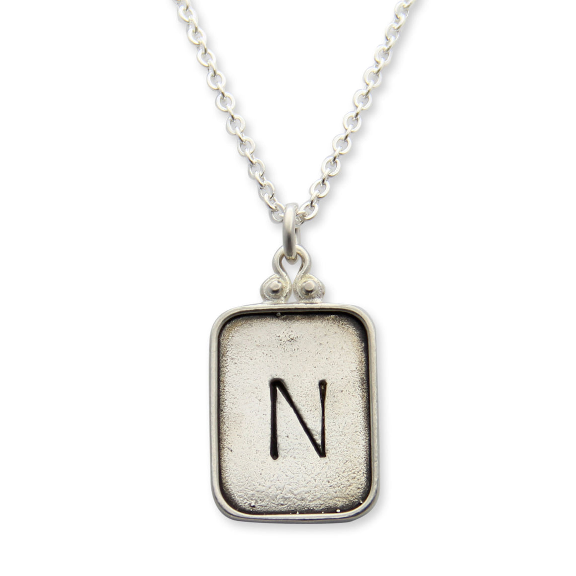 sterling silver personalized hand stamped initial necklace, initial jewelry, proud mama®, jenny present®