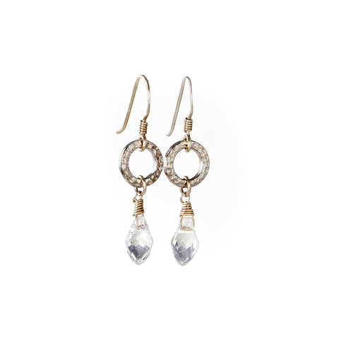 Delicate Sterling Silver Earrings With Swarovski Crystal, Handmade, Designer Jewelry, jenny present®
