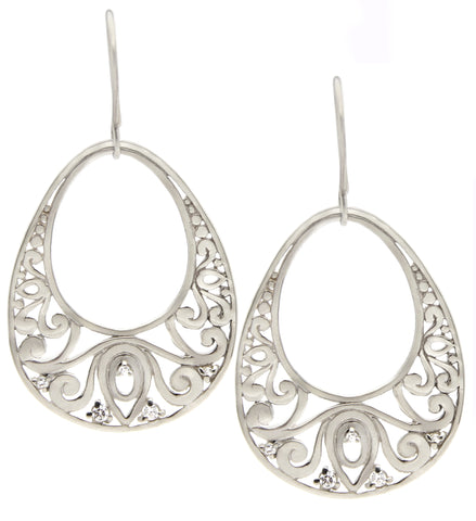 Sterling Silver Lace Drop Earrings, Designer Jewelry, Rated #1 jewelry, handmade, jenny present®
