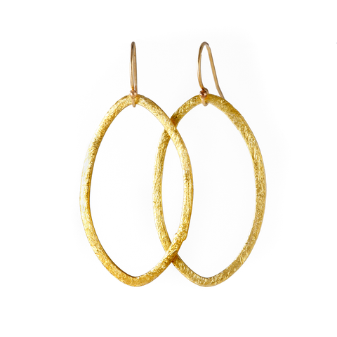 Gold Casey Simple Earrings, handmade, jenny present®