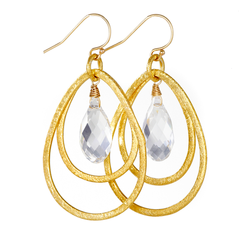 Gold Callie Earrings with Swarovski Crystals, jenny present®
