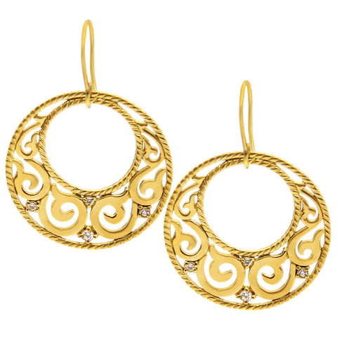 gold designer earrings, bohemian style earrings, jenny present®