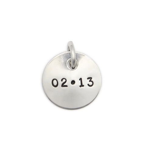 Small Hand Stamped Sterling Silver Pendant