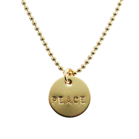 Gold Hand Stamped Name Necklace, Proud Mama®, jenny present®