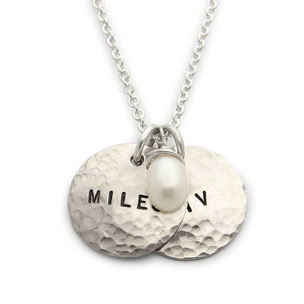 hand stamped hammered personalized mothers jewelry, proud mama® necklace, jenny present®