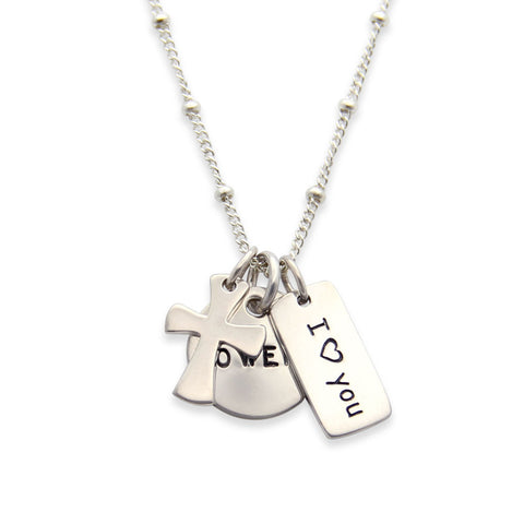 sterling silver remembrance necklace, in memory of jewelry, hand stamped, proud mama®