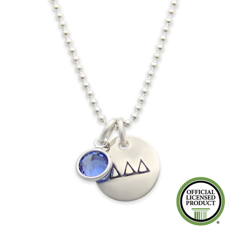 tri delta necklace, delta delta delta jewelry, official licensed product, jenny present®
