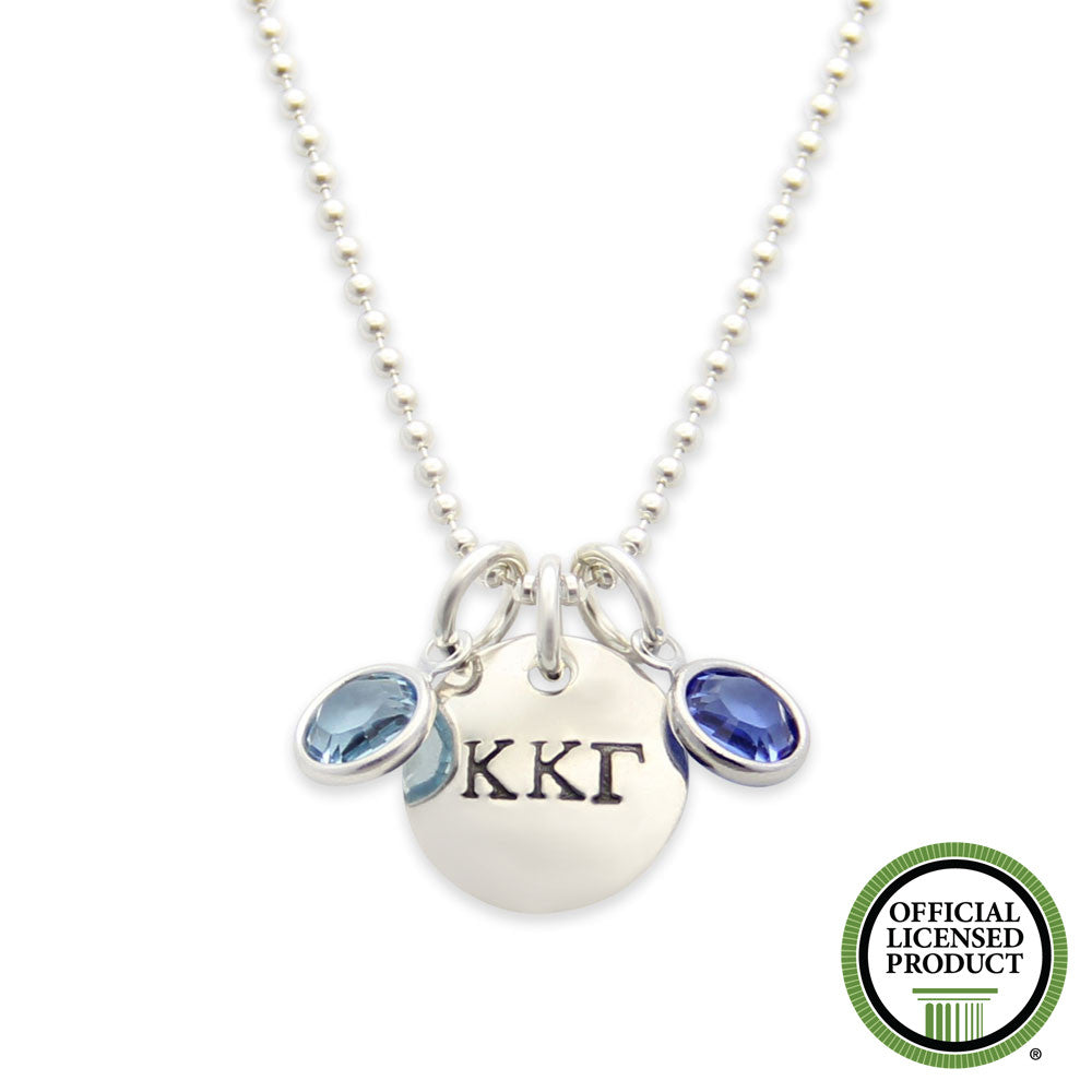 Kappa Kappa Gamma Necklace, Sorority Jewelry, Official Licensed Product, Silver Hand Stamped, jenny present®