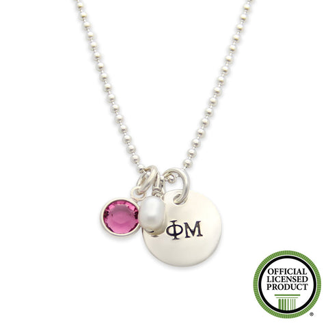 Phi Mu Necklace, Sorority Jewelry, Official Licensed Product, jenny present®