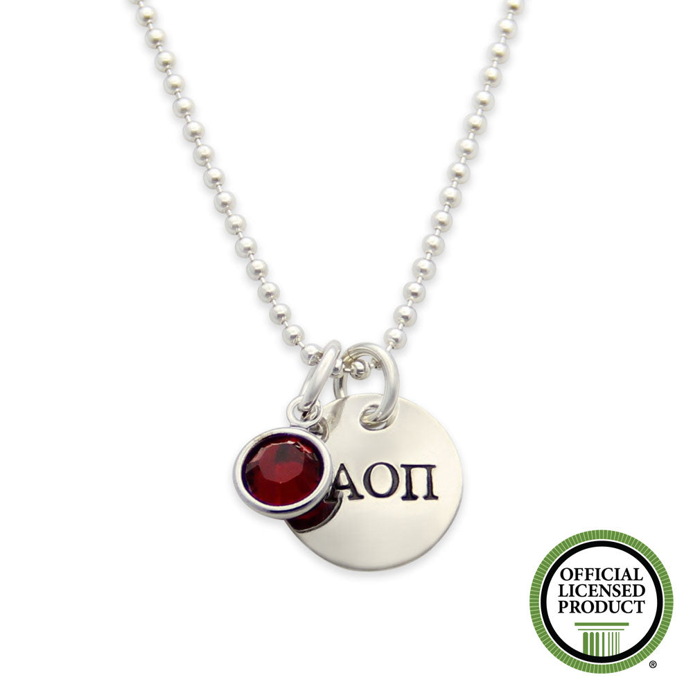 AOPi, Alpha Omicron Pi Necklace, Sorority Jewelry, jenny present®, official licensed product