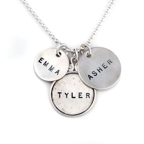 personalized hand stamped mothers jewelry, personalized necklace, proud mama®
