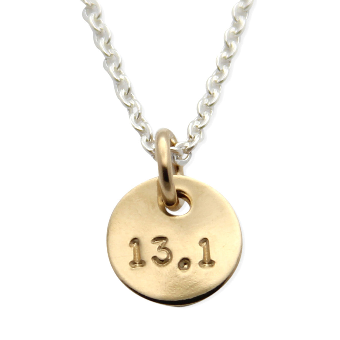 Half Marathon Runners Necklace, Hand Stamped Mini Medal™, jenny present®