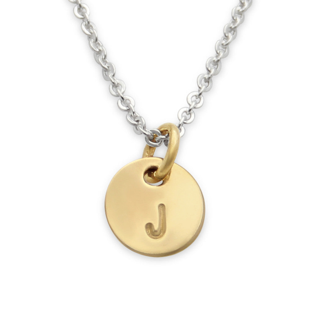 mixed metals, Hand Stamped initial jewelry, jenny present®