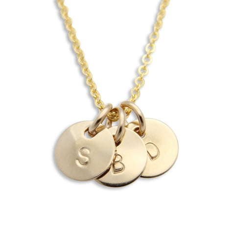gold hand stamped initial necklace, personalized jewelry, proud mama®, jenny present®
