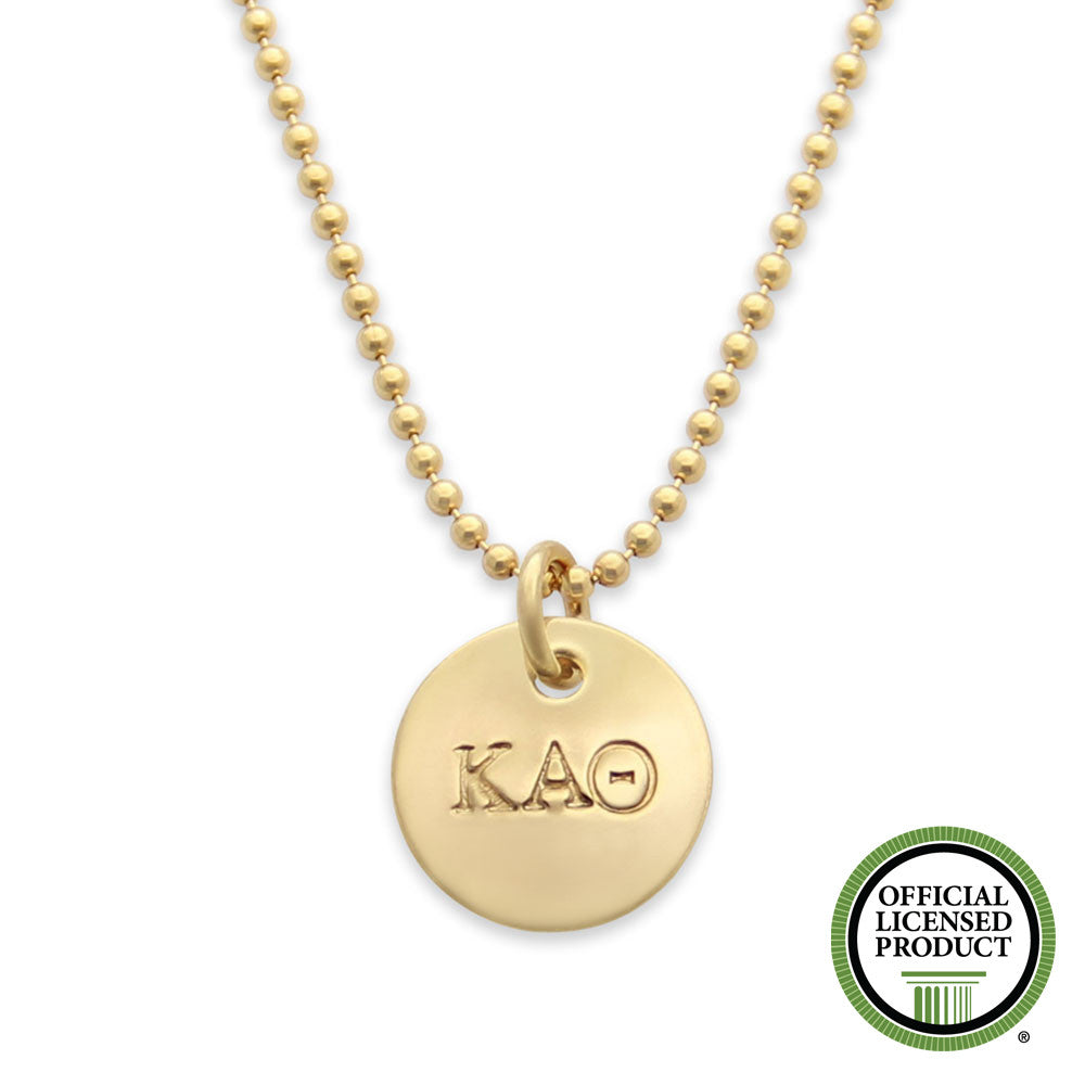 Kappa Alpha Theta Necklace, Sorority Jewelry, Official Licensed Product, Gold, jenny present®