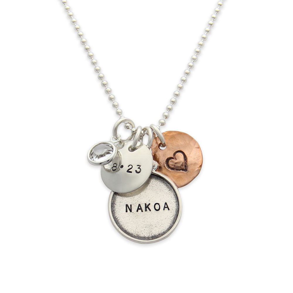 hand stamped new mom name tag necklace, personalized jewelry, proud mama®, jenny present®