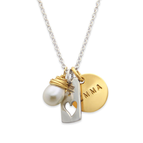 Personalized Heart Charm Necklace, Proud Mama®