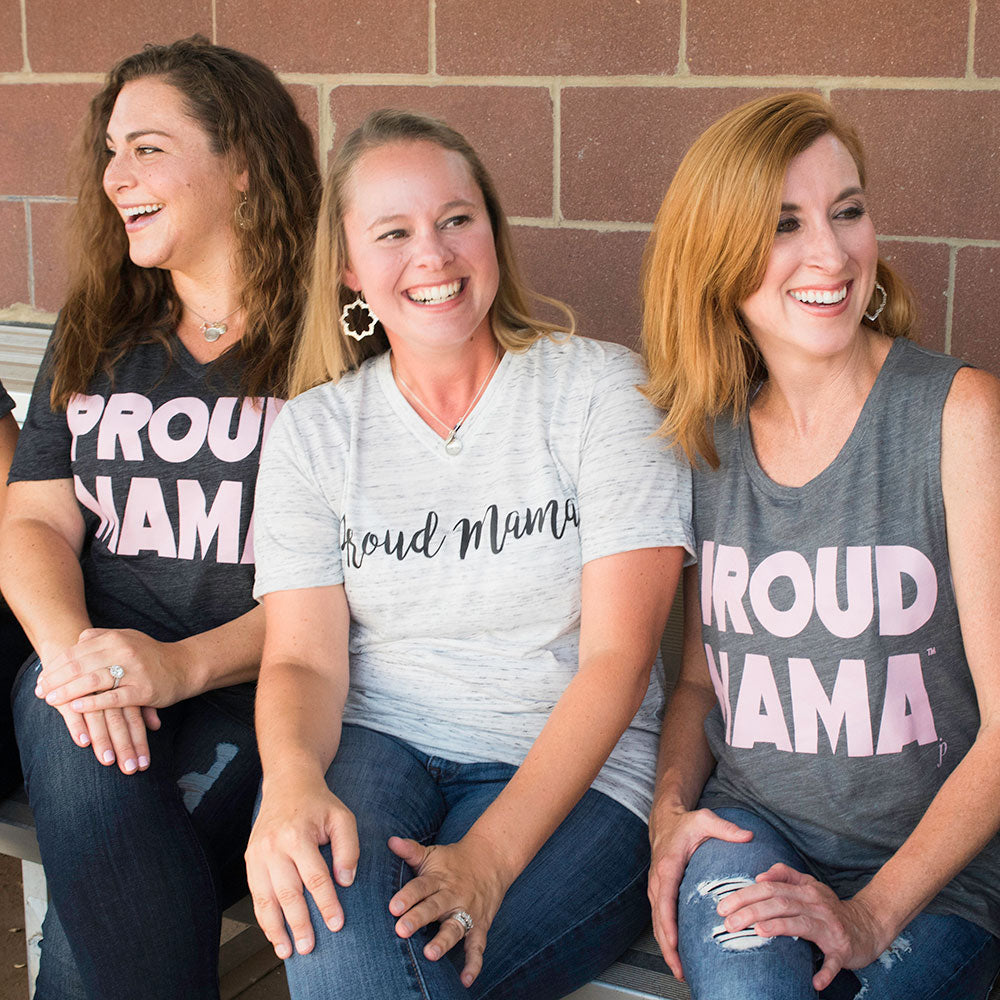 Mama Shirts, Proud Mama™ White Graphic T-Shirt, shirts for moms, graphic tees