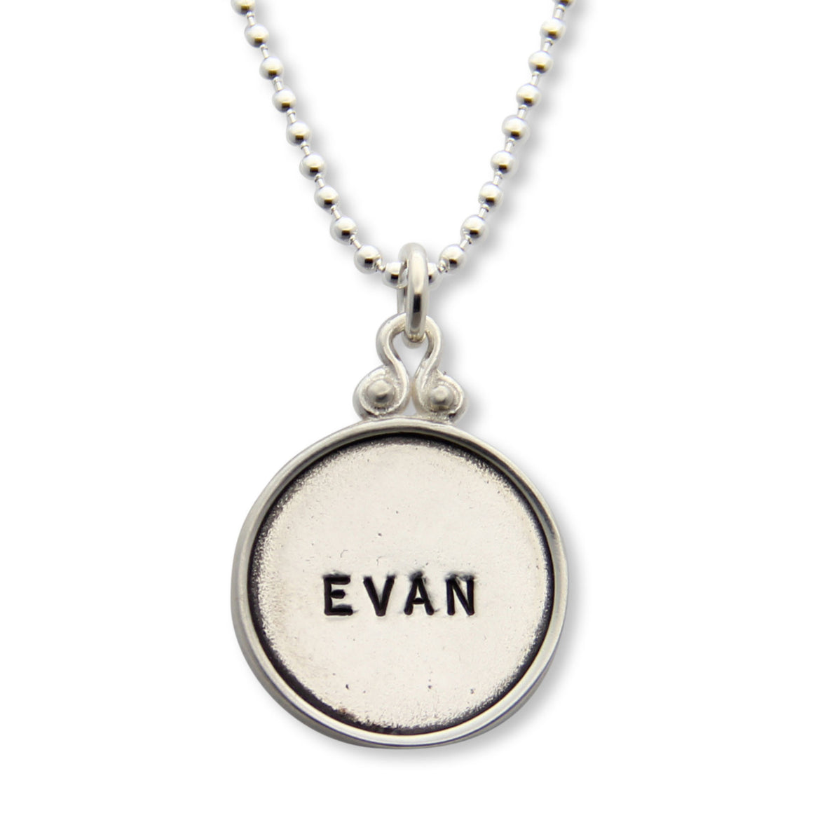 hand stamped personalized sterling silver necklace, proud mama®