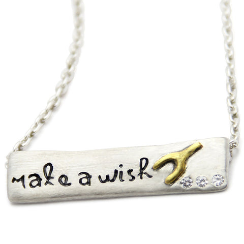 Make A Wish Inspirational Necklace, LifeNotes® Motivational Jewelry, jenny present®