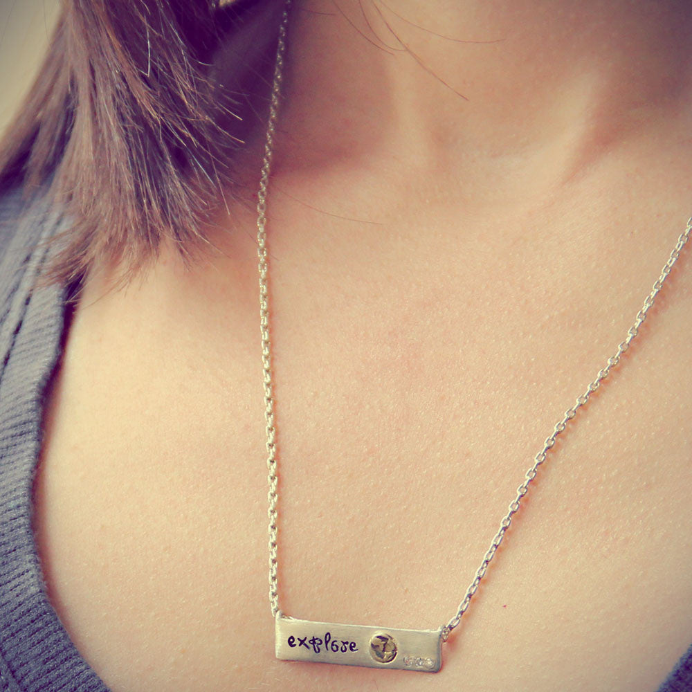 Explore Inspirational Necklace, LifeNotes® Motivational Jewelry, jenny present®