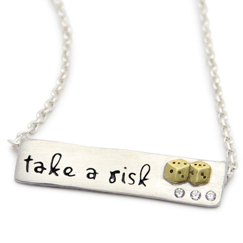 Take A Risk Inspirational Necklace, LifeNotes® Motivational Jewelry, jenny present®