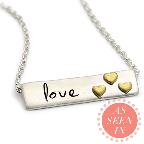 sterling silver love necklace, message jewelry, inspirational necklace, LifeNotes®