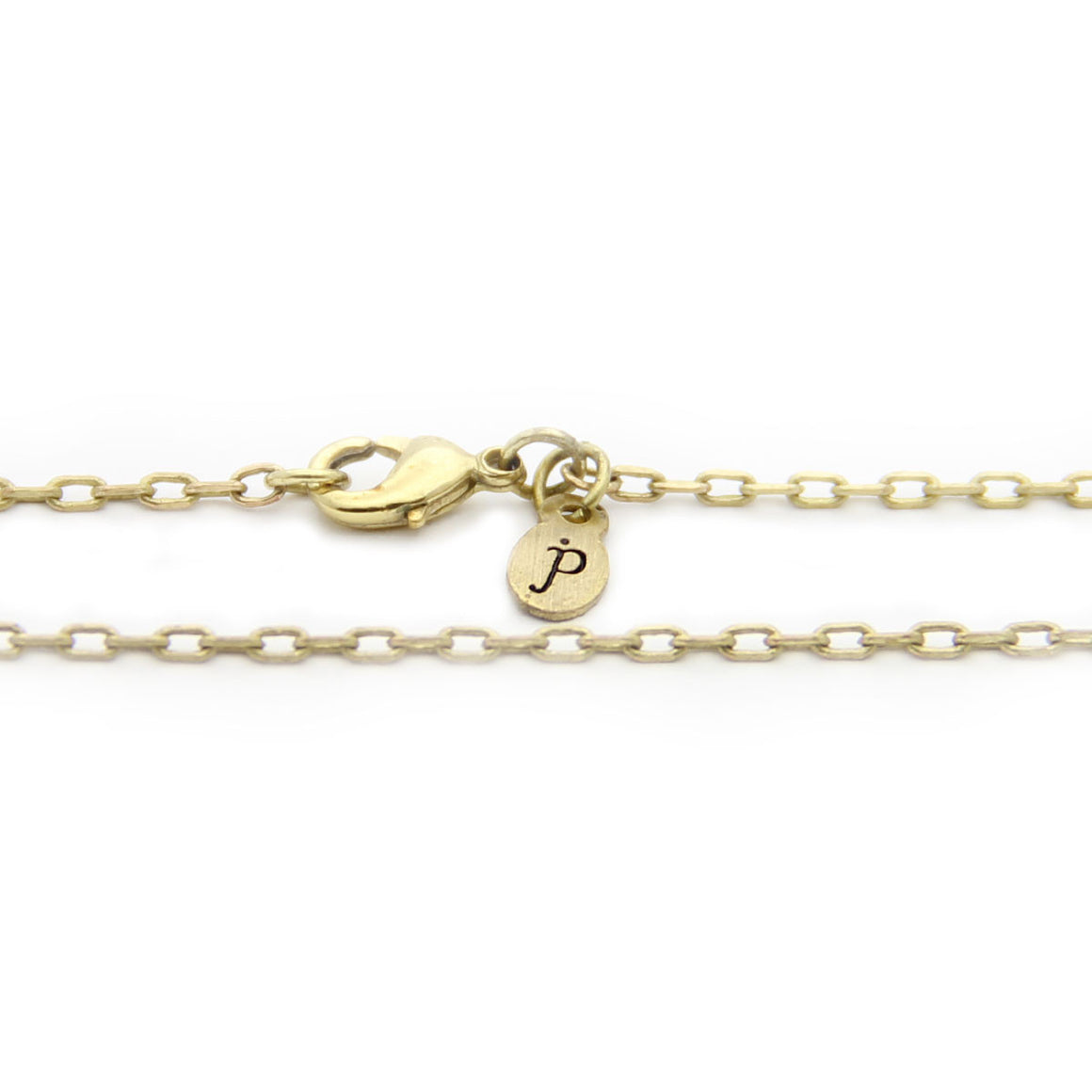 brass cable chain necklace, gold necklace, design your own personalized jewelry, jenny present®