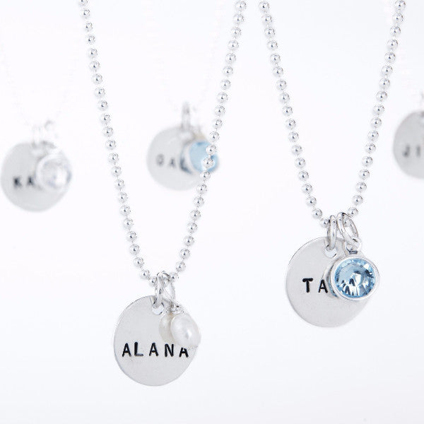 sterling silver hand stamped name necklace, personalized jewelry, proud mama necklace, jenny present®