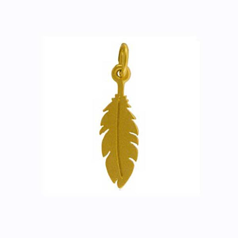 gold feather charm, angel feather, remembrance jewelry, design your own personalized necklace, jenny present®