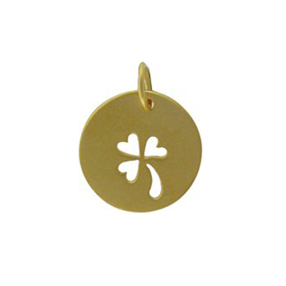 gold clover pendant, lucky charm, jenny present® personalized jewelry