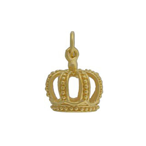 gold crown charm, princess crown pendant, jenny present® personalized jewelry, design your own necklace