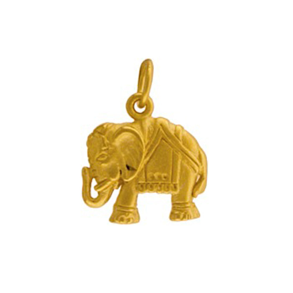 gold elephant charm, good luck pendant, personalized elephant jewelry by jenny present®