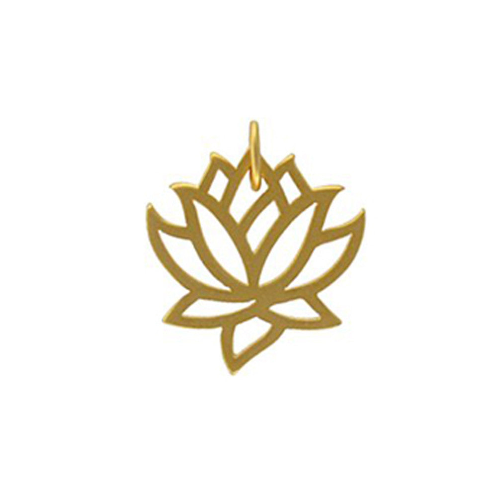 Gold lotus flower charm lotus pendant tranquility jewelry gold lotus flower charm rebirth tranquility jewelry design your own personalized jewelry mozeypictures Image collections