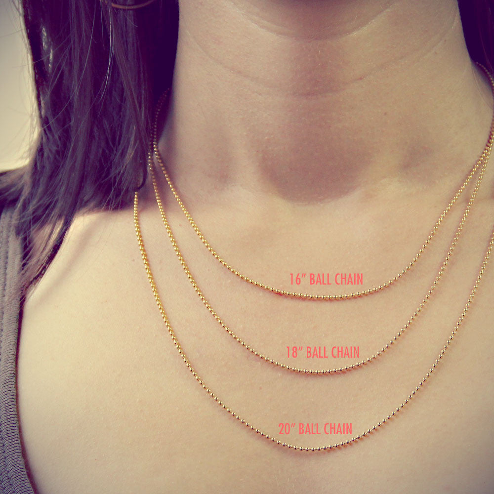 Gold Necklace Chain, Ball Chain, Personalized Jewelry