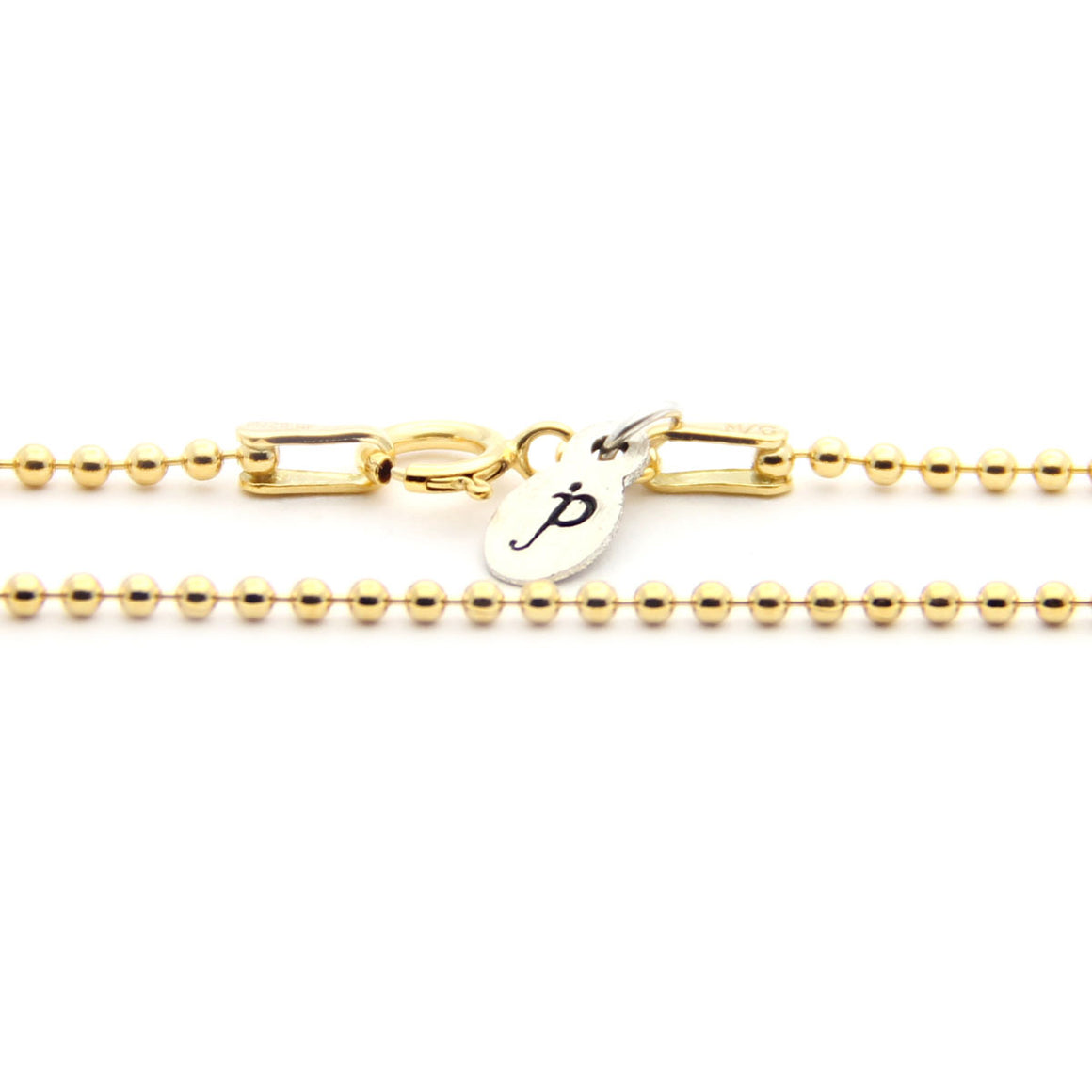 gold ball chain necklace, gold necklace add on, design your own jewelry, jenny present®