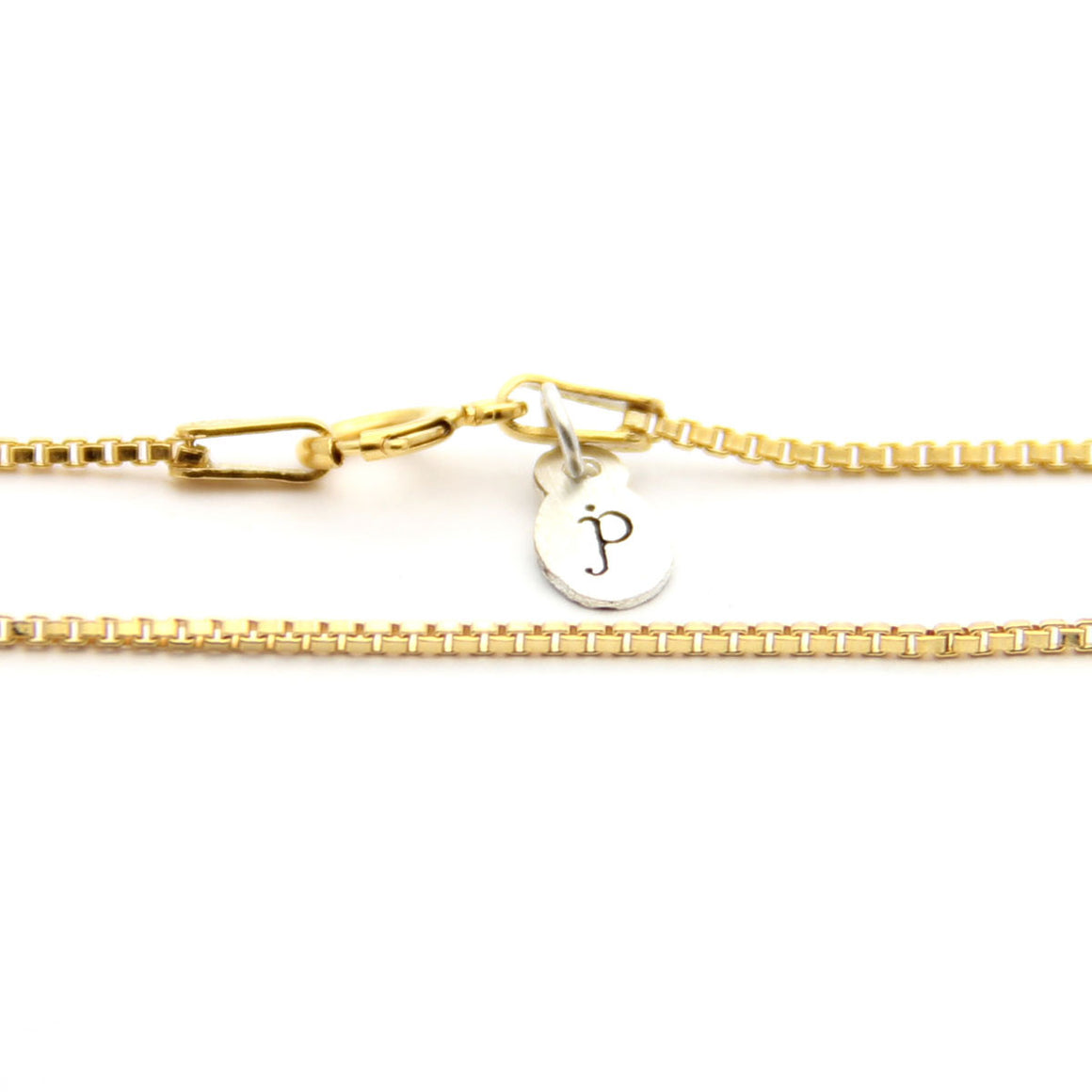 gold box chain length options, gold chain add on, design your own necklace, jenny present®