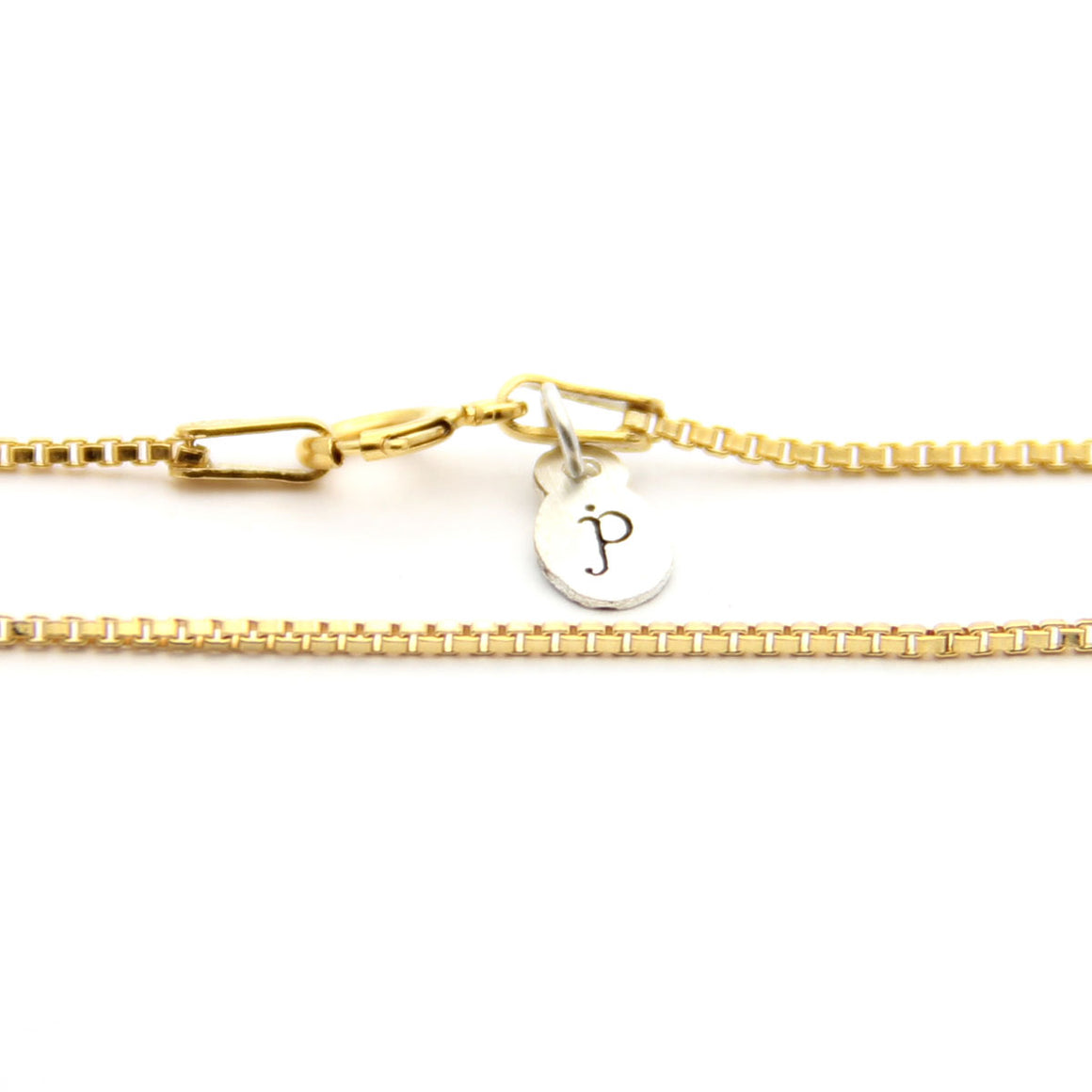gold box chain necklace, gold necklace add on, design your own jewelry, jenny present®