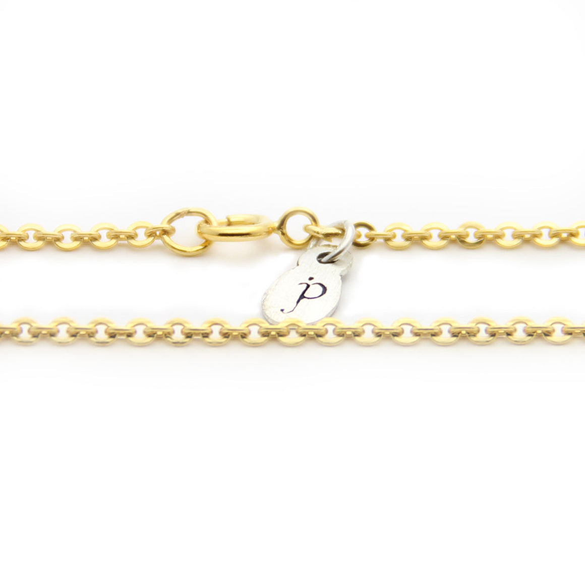 gold cable chain necklace, cable chain length options, add on necklace, personalized, jenny present®