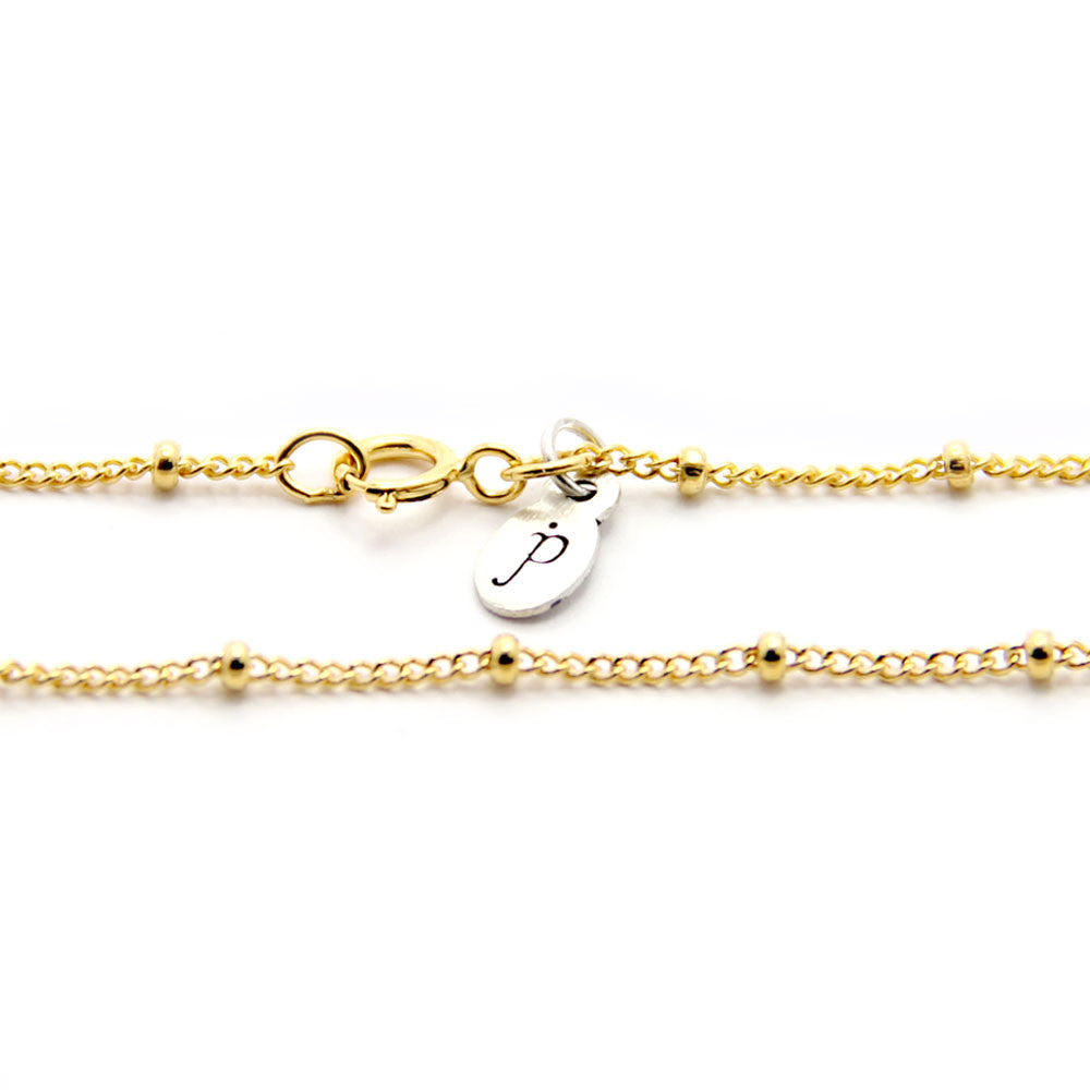 gold saturn chain length options, gold chain add on, personalized design your own necklace, jenny present®