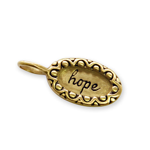 Gold Hope Charm, Tiny LifeNotes® Inspirational Jewelry, jenny present®