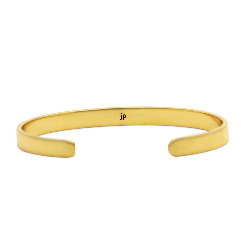 gold cuff bracelet, do something every day that makes you happy